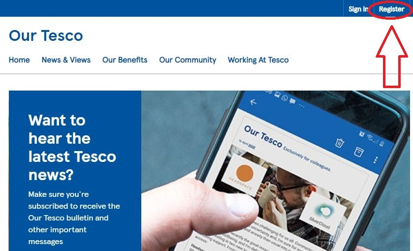 OurTesco Registration