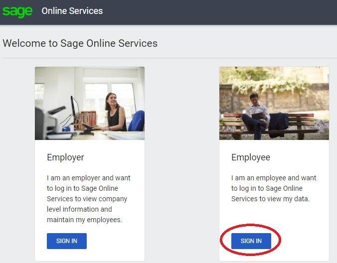Sage employee payslip