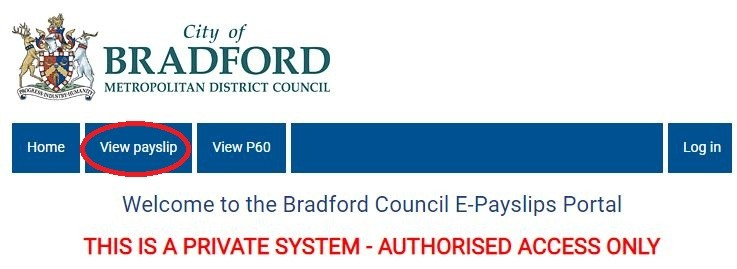 Bradford Council Payslips