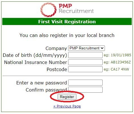 pmp recruitment payslip